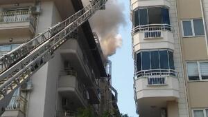 Alanyada 5 katlı otelde yangın
