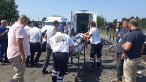 Samsunda hatalı sollama kazası: 3 ölü, 3 yaralı