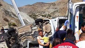 Malatyadaki kazada 1 yaşındaki Beril Nisa öldü, 3 yaralı