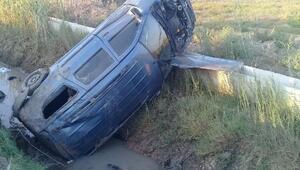 Otomobil sulama kanalına devrildi: 6 yaralı