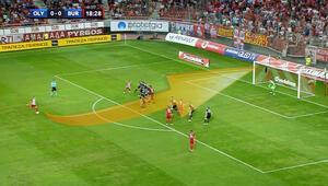 Olympiacos maçında harika frikik golü
