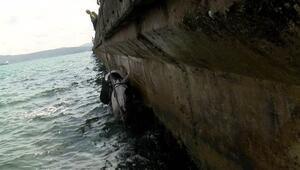 Sarıyer'de bindiği at ile denize düştü