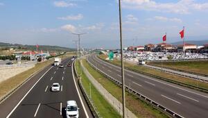 Tatil dönüşü Boluda trafik rahat