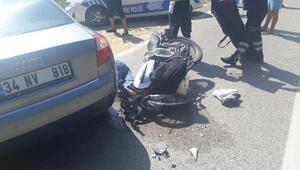 Otomobile çarpanmotosikletli öldü
