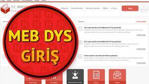 MEB DYS giriş ekranına nereden ulaşılır DYS MEB giriş modülü