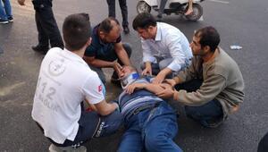 Yaralı sürücülere ilk müdahale yoldan geçen başhekim yardımcısından