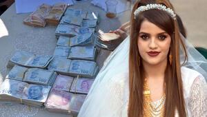 Aşiret liderinin kızına düğünde takılan para ve altın dudak uçuklattı