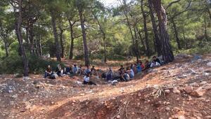 Seydikemerde 29 kaçak ve 7 organizatör yakalandı