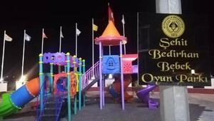 Şehit Bedirhan Mustafa bebeğin ismi çocuk parkına verildi