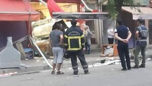 Derelide lokantada tüp patladı; 1 yaralı
