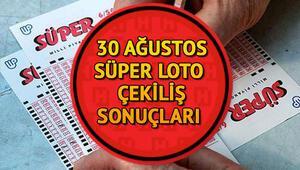 MPİ 30 Ağustos Süper Loto sonuç sorgulama   Süper Loto çekiliş sonuçları