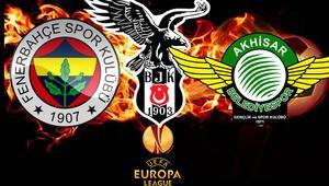 UEFA Avrupa Liginde Fenerbahçenin, Akhisarsporun ve Beşiktaşın muhtemel rakipleri