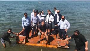 Başkan Aktaş, İznik Gölündeki tarihi yapıyı inceledi