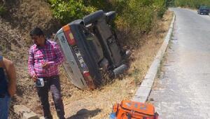 Türkoğlunda otomobil devrildi: 6 yaralı