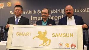 Turkcell ve Huawei Samsunda akıllı şehir için işbirliği yaptı