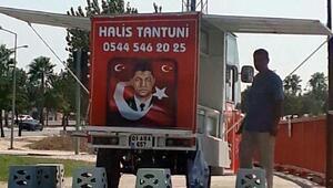 Şehit Halisdemirin adı ve fotoğrafıyla tantuni satışına tepki