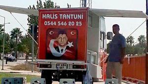 Şehit Halisdemir'in fotoğrafı ve adıyla tantuni satan kişi tepki çekti