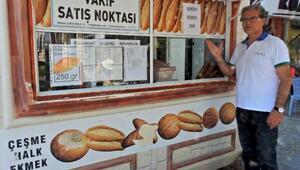 Çeşme Halk Ekmekten askıda ekmek uygulaması