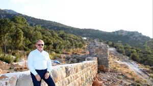 Büyük İskenderin yıkamadığı tarihi surlar restore edildi
