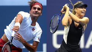 Federer ve Sharapovaya şok