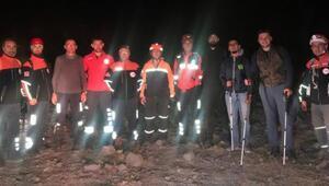 Yönlerini kaybeden genç dağcılar 5 saat süren çalışmayla bulundu