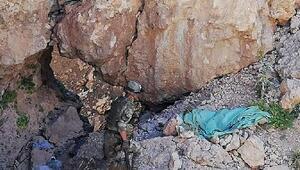 Herekol Dağında teröristlerin kullandığı sığınaklar imha edildi