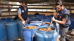 Seraya kurulan sahte içki imalathanesine baskın