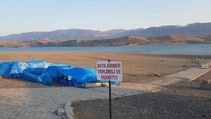 Sivasta baraj suyu çekilince ortaya çıktı