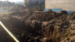 Otel inşaatında göçük: 1 ölü, 1 yaralı