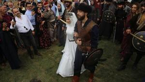 Recep Akdağın oğlu, Hünkar Çayırında oba düğünü ile evlendi