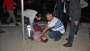 Bursada otomobilin çarptığı engelli kadın ağır yaralandı