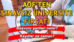 AÖF ikinci üniversite başvuruları başlıyor AÖF ikinci üniversite başvuru şartları neler