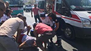 Midibüsün çarptığı Norveçli ağır yaralandı
