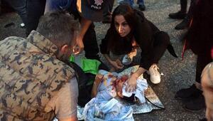 Dernekpazarında, 2 otomobil çarpıştı; 9'u çocuk 17 yaralı