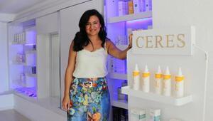 Girişimci kadın, kendi kozmetik markasını yarattı