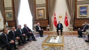 TÜSİAD heyeti Cumnurbaşkanı Erdoğanı ziyaret etti