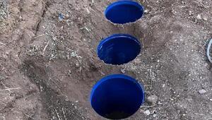 Licede toprağa gömülü 817 kilo esrar ele geçirildi
