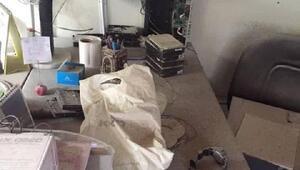 Kurumun bilgisayarlarını satıp, binayı ateşe veren genç yeniden gözaltında