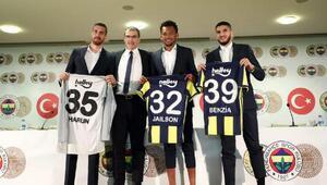 Fenerbahçede Harun, Jailson ve Benzia için imza töreni düzenlendi (FOTOĞRAFLAR)