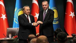 Erdoğan ve Nazarbayevden ortak basın toplantısı