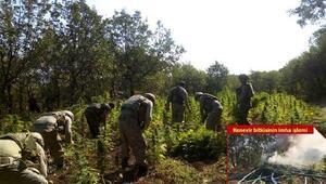 Diyarbakırdaki operasyonda patlayıcı düzenekleri ve 7 ton esrar ele geçirildi