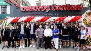 A Milli Erkek Basketbol Takımı açılışa katıldı