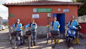 Melikgazi hizmetlerinde bisikletli dönem