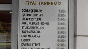 Lokantanın fiyat listesi sosyal medyayı salladı
