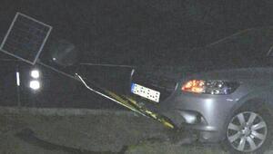 Çorumda iki otomobil çarpıştı: 4 yaralı