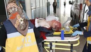 Minibüsün çarptığı motosikletin sürücüsü yaralandı