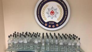 Zonguldakta 67 şişe sahte rakı ele geçirildi