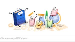 Google okulun ilk gününe özel doodle tasarladı... Okullar ne zaman kapanacak
