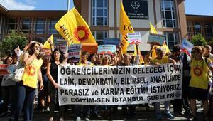 İl Milli Eğitim Müdürlüğü önünde eylemler