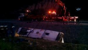 Afyonkarahisarda otobüs kazası